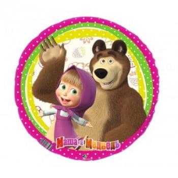 "Шар Круг ""Маша и Медведь"" 46 см"
