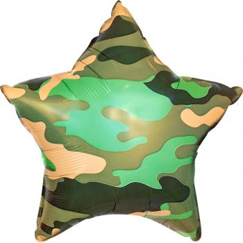Звезда Камуфляжная фольгированная