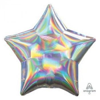 Шар звезда Серебро Перламутр