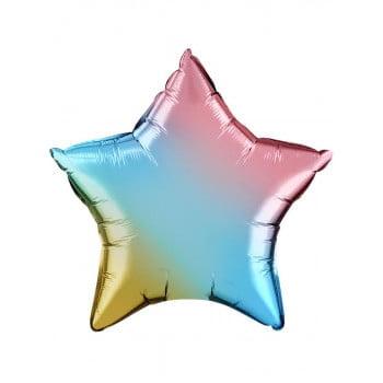 Звезда фольгированная Радужная