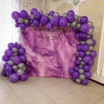 Баннер из воздушных шаров на Свадьбу