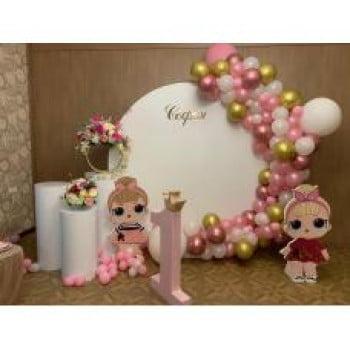 Круглая фотозона для детей Куклы ЛОЛ