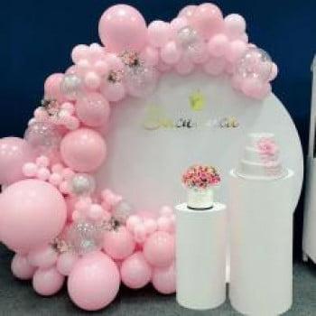 Круглая фотозона из шаров Для Девочки
