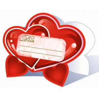 Банкетные карточки для стола, Сердца, 20шт.