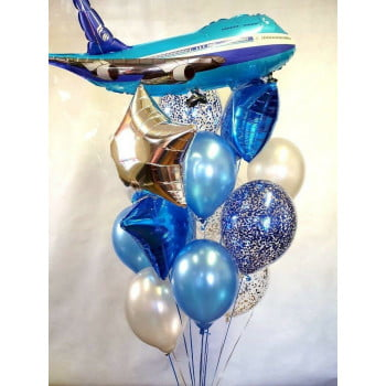 Букет шаров Самолёт