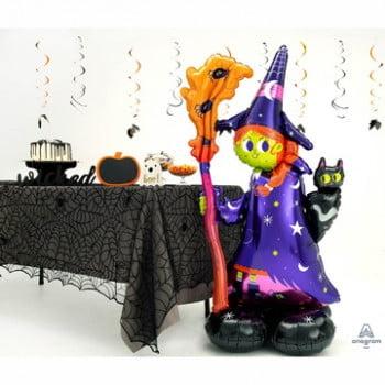 Ходячий шар Ведьма на хэллоуин (140 см)