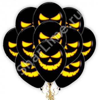 Воздушные шары Тыква на Хэллоуин Черные