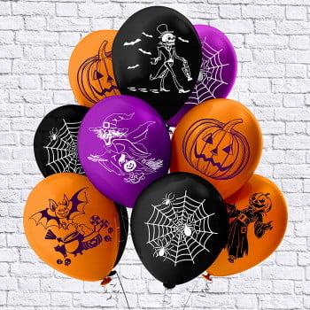 Шарики на Хэллоуин паутинка (Бикей)