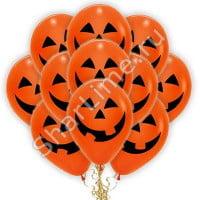 Воздушные шары Тыква на Хэллоуин Оранжевые