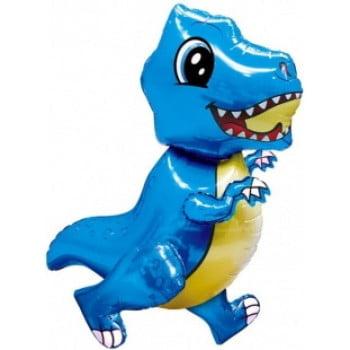 Динозавр маленький голубой ходячая фигура 76 см