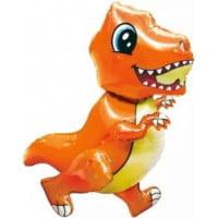 Динозавр маленький оранжевый ходячая фигура 76 см