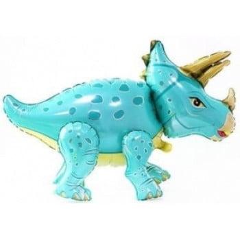 Динозавр Трицератопс голубой ходячая фигура 91 см