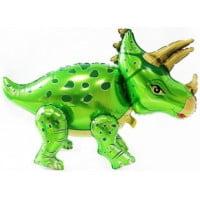 Динозавр Трицератопс зеленый ходячая фигура 91 см