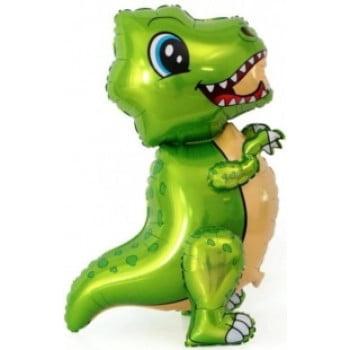 Динозавр маленький зеленый ходячая фигура 76 см