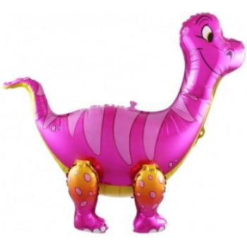 Ходячая фигура Динозавр Брахиозавр Розовый