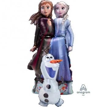 Ходячая фигура Холодное Сердце Анна Эльза и Олаф (147 см)