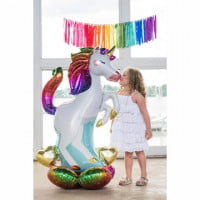 Шар ходячая фигура Единорог на подставке (139 см)