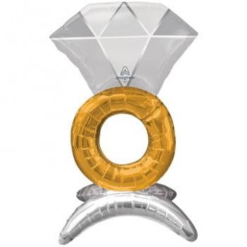 Шар стоячий Кольцо с бриллиантом (53 см)