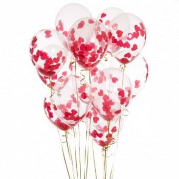Воздушные шары с конфетти Сердечки