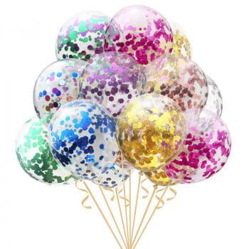Воздушные шары с конфетти (выбор цвета)