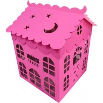Коробка для воздушных шаров Домик, Розовый, 70 см