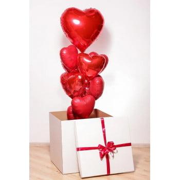 Коробка с Сердцами фольгированными