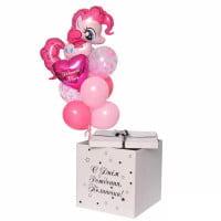 Шары в коробке для девочки с надписью