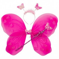 Набор Фея Бабочка с блестками (ободок, крылья, волшебная палочка)