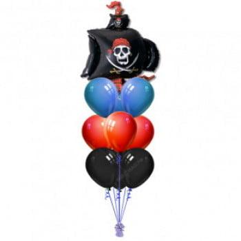 Букет шаров Пиратский корабль