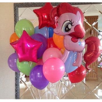 Набор шариков Пони розовый
