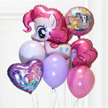 Набор шариков Розовый Пони с сердцем и кругом