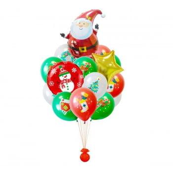 Букет из шариков Дед мороз