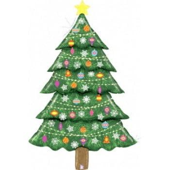 Шар 152 см Новогодняя елка, Голография