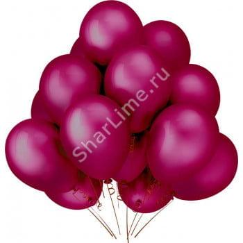 Облако шариков бордовые