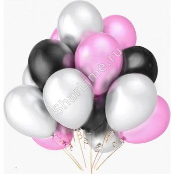 Шарики белые розовые черные матовые
