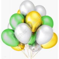 Шарики белые желтые зеленые матовые