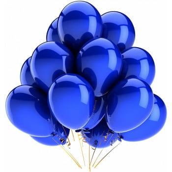 Шарики синие матовые