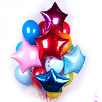 Облако разноцветных шариков