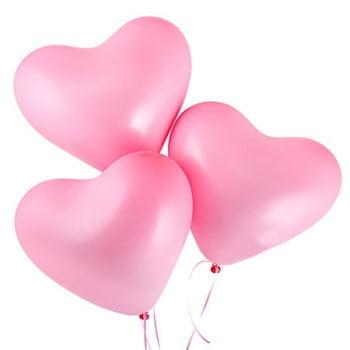 Облако розовых шариков сердечек