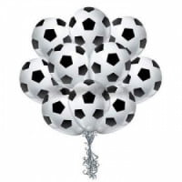 Облако шаров футбольный мяч