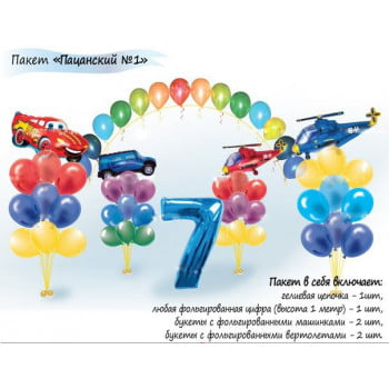 Пакет оформления воздушными шарами Пацанский