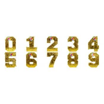 Пиньята цифры золотые