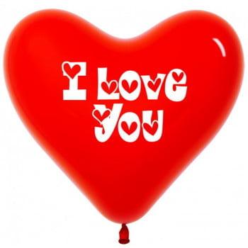 Сердца красные Ilove you