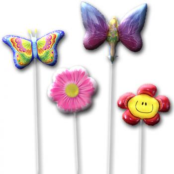 Шары на палочке набор Цветы и Бабочки