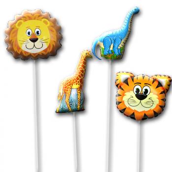 Шары на палочке набор Динозавр и Лев