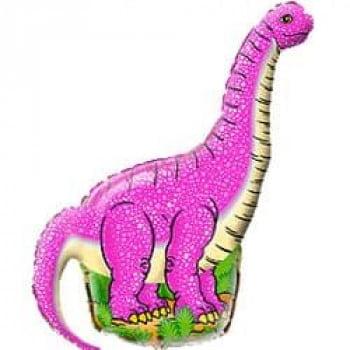 Шарик Динозавр розовый