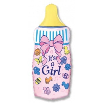 Шарик на палочке Бутылочка для девочки
