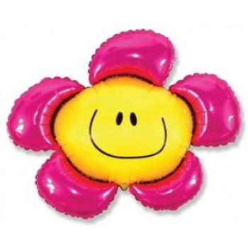 Шарик на палочке Цветочек розовый