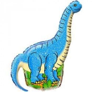 Шарик на палочке Динозавр диплодок синий