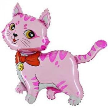 Шарик на палочке Котенок розовый